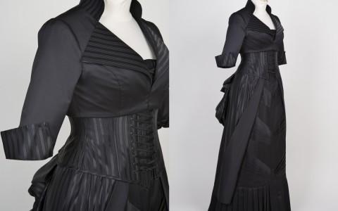 Striped Bustle Dress